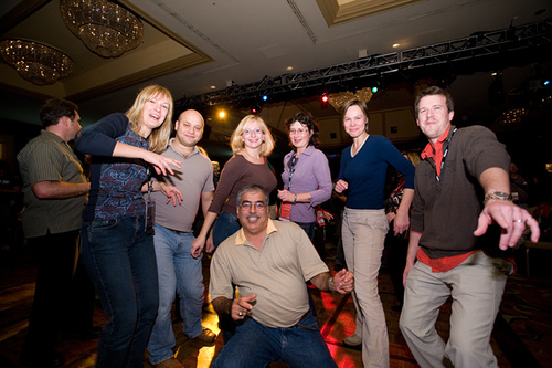 David on the far right having fun at Oracle OpenWorld 2007