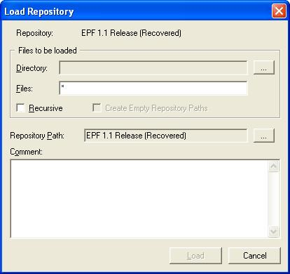 Load Repository Dialog